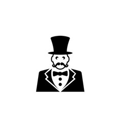 ringmaster circus ceremony master with hat flat vector image