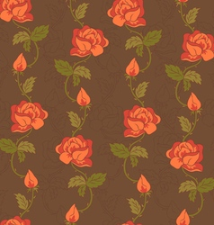 rose pattern brown vector image