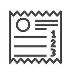 Sales receipt thin line icon vector