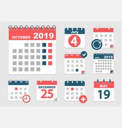 set different calendars vector image