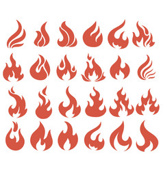 Set flame a collection stylized vector