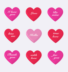 Set of 3d valentines hearts vector