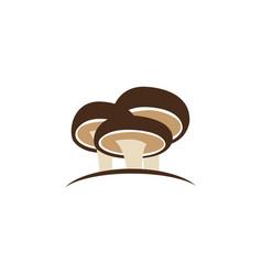 shiitake mushroom logo design concept vector image