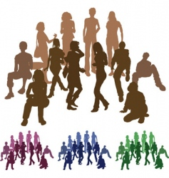 silhouettes of firends vector image