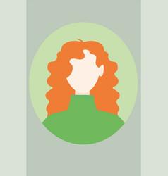 simple cute avatar vector image