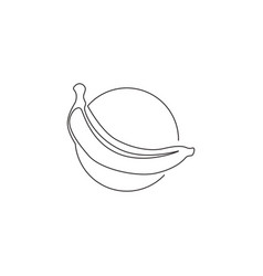 Single one line drawing whole healthy organic vector