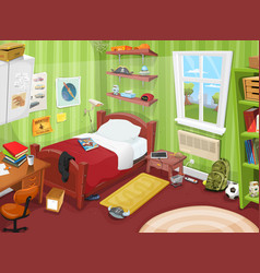 Some kid or teenager bedroom vector