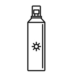 sun block spray icon outline style vector image