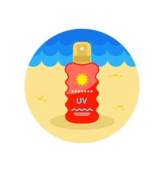 Sun Cream in Spray icon Summer Vacation vector