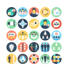 Team Work and Organization Icons 2 vector