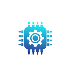 Technology icon chipset and gear vector