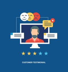 testimonials business feedback vote reviews vector image