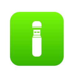usb flash drive icon digital green vector image