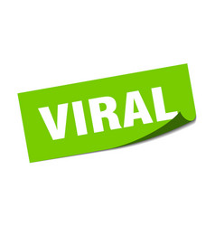 Viral sticker viral square sign viral peeler vector
