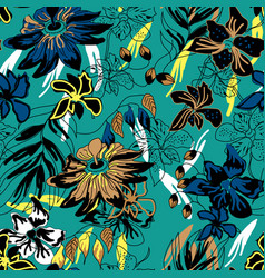 Wild jungle pattern seamless design graphic vector