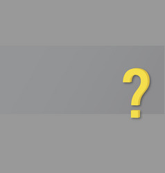 yellow question mark on grey background vector image