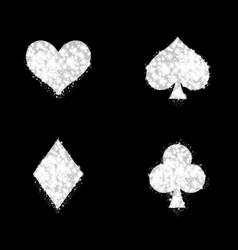 ace playing card signs vector image