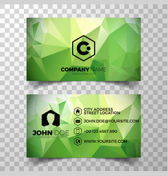 modern blue business card design template vector image