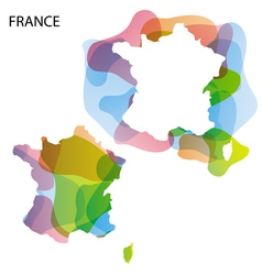 Map Art France 01 vector image vector image