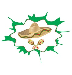 Sombrero and Maracas5 vector image