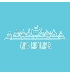 candi borobudur temple in Java island Indonesia vector image