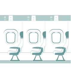 aircraft cabin silhouette vector image vector image