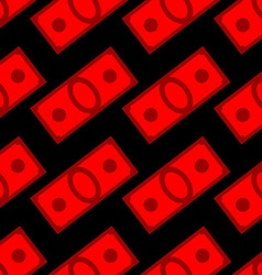 Blood money seamless pattern Dollars on fear and vector image vector image