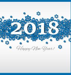 happy new year merry christmas 2018 snowflake vector image