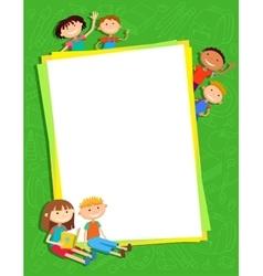 kids bunner around vertical banner vector image vector image