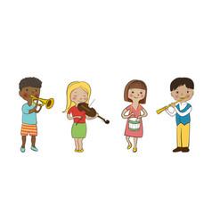 Musician children set vector image vector image