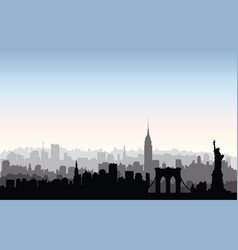 new york city buildings silhouette american urban vector image
