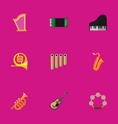 set of 9 editable mp3 flat icons includes symbols vector image vector image