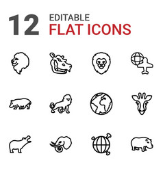 12 africa icons vector