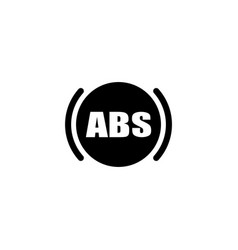 abs flat icon vector image