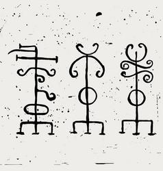 Ancient scandinavian runic symbols vector