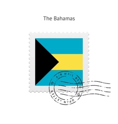 Bahamas Flag Postage Stamp vector