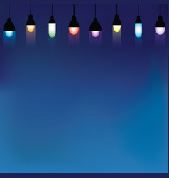 beautiful hanging lamps background vector image