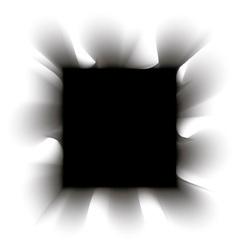 Black smoke square on a white background vector image