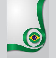 Brazilian flag wavy background vector