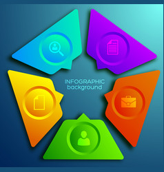 business infographic web concept vector image