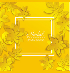 card with paper flower vector image