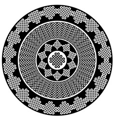 Celtic mandala in black and white vector