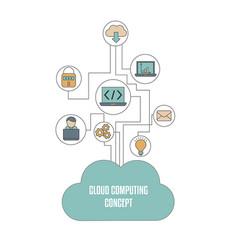 cloud computing technology cloud computing vector image