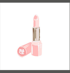 colorful light pink lipstick cosmetics vector image