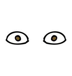 Comic cartoon staring eyes vector