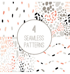 confetti seamless pattern set vector image