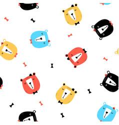 cute bears seamless pattern vector image