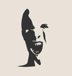 Demon or monster screaming vector