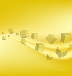 Design technology yellow geometric background vector
