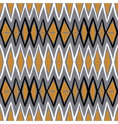Ethnic pattern with zigzag lines vector